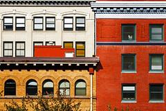 Shapes And Earth Tones (Ian Sane) Tags: park street old windows architecture oregon buildings portland ian downtown earth bricks shapes images and avenue morrison tones alder sane