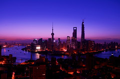 Waken from a deep sleep (JERRYANG) Tags: china building tower architecture sunrise landscape nikon skyscrapers shanghai landmark highrise   pudong  jinmao cityview construct  lujiazui swfc    shanghaitower   d7k d7000  jerryang mordencity