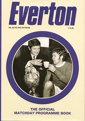 Everton The Official Matchday Programme Book (Bob Latchford) Tags: