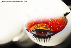 Loving Eye. Color. Love Project (Jenny Rainbow (jenny-rainbow.pixels.com)) Tags: light red blackandwhite woman white abstract black hot detail cute sexy eye love beautiful face fashion electric vertical modern composition mouth design glamour neon lashes superb feminine unique rich decoration makeup wallart romance lips sensual eyeball passion romantic lip concept sexual conceptual sensuality luxury lash visage wealth fascinating passionate conceptualart conceptualabstract halldecoration jennyrainbowfineartphotography