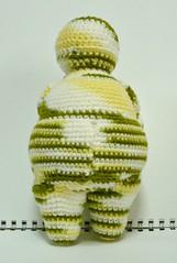 (Back View)Small Venus of Willendorf crochet plush (Melbangel acct #2) Tags: doll crochet goddess plush figurine softsculpture fertilitydoll venusofwillendorf fundecor melbashoppe handmadesingapore