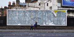 Error 404 - Advert not found (id-iom) Tags: street uk england urban streetart london art wall advertising found graffiti stencil paint error arts spray billboard blank advert vandalism spraypaint 404 clapham brixton idiom aerosolpaint