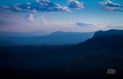 Blue (Mike Hankey.) Tags: blue bluemountains layers leura