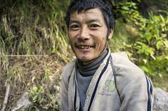 The Morning Walker |  (francisling) Tags: morning nepal zeiss 35mm t walk sony cybershot himalaya porter sherpa tyangboche sonnar  tengboche   rx1    dscrx1