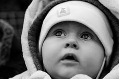 Project 365: #3 - Looking Up (daviwie) Tags: vienna wien portrait bw baby white black austria blackwhite österreich child porträt lookingup kind awe oesterreich project365