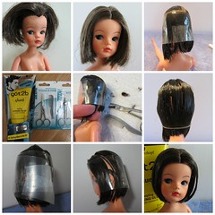 (2) A Hair Cut Repair for Sindy (Foxy Belle) Tags: make fix hair doll soft head cut over barbie bob clean scissors repair short how brunette suggestion gel chin sindy tlc restyle lengthe