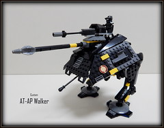 Black Yellow AT-AP (Johnny-boi) Tags: shadow cinema trooper yellow battle palace walker legos custom legostarwars hoth gunship minifigure atap vision:text=0574 vision:outdoor=0749