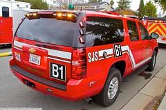 SJS Battalion 1 (YFD) Tags: california usa chevrolet canon fire suburban action 911 sanjose firetruck chevy sjfd emergency ems firedepartment commandcenter battalionchief eos7d incidentcommander