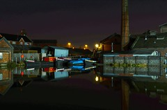 Boat museum, (Lee1885) Tags: bw museum night port boat canal narrowboat ellesmere