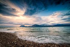 Seascape (Christophe_A) Tags: sunset sea seascape clouds nikon day cloudy explore greece d800 patra 14mm samyang explored christopheanagnostopoulos