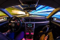 Enhanced Warp (e_impact) Tags: car night speed germany fun deutschland driving father son christian teenager aral practise lightstream raiffeisen eosm hnfeld passatcc warp3 blinkagain bigblueoil