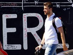 ER - He! (AFIK  BERLIN) Tags: man berlin handsome eastsidegallery photograoher