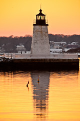 20140206-IMG_75431600 (Ron Stella) Tags: sunset reflection water reflections harbor dusk rhodeisland newport getty gettyimages newportbridge claibornepellbridge