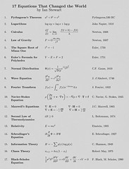 Here Are The World's Most Famous Math Equations On One Big Chart (exploringmarkets) Tags: school chart education geometry markets graph images study math calculus algebra algorithms quants pictar