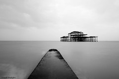 Brighton (R Y A N Photography) Tags: uk sea england sky blackandwhite sun beach nature monochrome canon nikon brighton outdoor suset autofocus thegalaxy flickraward mygearandme mygearandmepremium mygearandmebronze mygearandmesilver rememberthatmoment1 rememeberthatmoment2