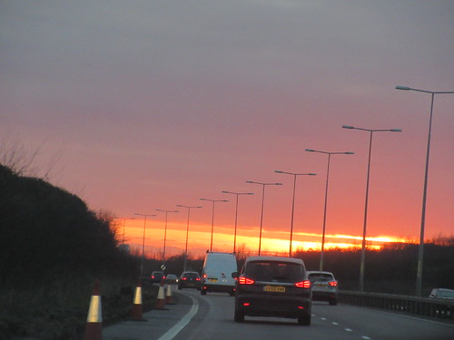 A299 in Kent, Sunset