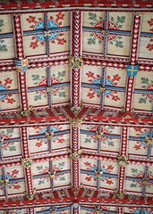 St. David's Cathedral (@AnnerleyJphotos) Tags: blue britain cathedral ceiling cymru david decorative folk gb handpainted lines ornate painted pembrokeshire red roof saint sirbenfro stdavids uk wales welsh white wood