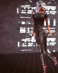 Sci-Fi (lndya and Leeaker) Tags: yasum catsuit tiptoe sandals warrior we❤roleplay ks pose me myself rm hair groupgift