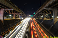 Lights, Stacks and Speed (The Dallas Nomad) Tags: austin texas i35 architecture infrastructure night nightscape atx freeway outdoor long exposure road highway central