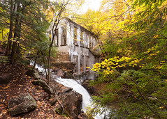 Autumn Carbide (waterfallout) Tags: abandoned factory abandonedfactory industrial bando bandos autumn fall colour color autumncolors fallcolors carbidewillsonruins ruins carbidewillson haunted waterfall waterfalls trees quebec gatineaupark canada canadianlandscapes canadianlandscape