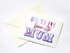 You're my favourite Mum Mother's day handmade greeting card (roisin.grace) Tags: greetingcards greetingcard handmade handpainted handmadecards handpaintedcards happymothersday mothersday mothersdaycard lovecards lovecard