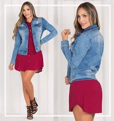 135 (tiendadelabad) Tags: chaqueta azul dama mujer femenina jean indigo tienda abadesa abad ropa
