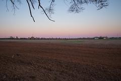 Rainbow Sky (ajketh) Tags: csx csxt joanna sc south carolina freight coal train railroad hopper empty indiana farm field sunset vibrant rainbow soutbound ge general electric es44ah