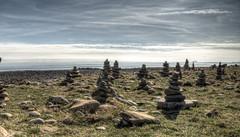 stacked rocks on lindisfarne Island (neilalderney123) Tags: ©2017neilhoward landscape lindisfarne olympus zen northumbria rockstacking