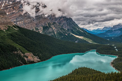 Peyto Lake, Banff Alberta (angie_1964) Tags: peyto lake banff alberta ab canada mountain rockies clouds nature sky landscape