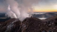 The Breath of Te Maari (blue polaris) Tags: new zealand tongariro national park landscape volcano te mari maari crater steam vent fumarole sunrise dawn
