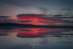 the moment.... (Pastel Frames Photography) Tags: sunriseinblackrock colouth dundalk ireland sunrise reflection tideout canon5dmark3 canon 1635mm wide angle sun clouds sky nature amazing totallyworhit morning amazingsky red