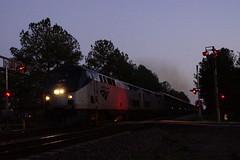 AMTRAK PO52 AT DINSMORE, FL (railfan1967) Tags: amtrak po52 auto train passengertrain superliner gelocomotive gep40dc 814 dinsmore florida phasev