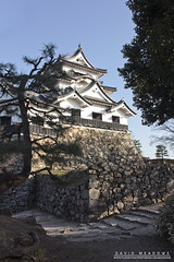 Hikone Castle (DMeadows) Tags: davidmeadows dameadows davidameadows dmeadows japan japanese hikone castle history historic defence tourist tourism visit asia trip travel building buildings architecture tree trees wood woodland wooden leaves stone stonework wall walls defences