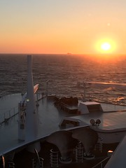 Queen Mary 2, Southampton to New York (Harrogate) Tags: sunset cunard