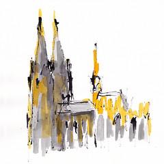 Der Dom - The Cathedral (Cologne) [20170331] (rodneyvdb) Tags: abstracted art artcontemporain cathedral cologne church contemporary contemporaryart city cityscape drawing dom domcologne encre explore expression expressionism fineart illustration impressionism ink kirche koeln köln kölnerdom kunst landscape modernart noir painting