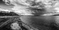 Squall over Veijle Fjord, Denmark (Gareth L Evans) Tags: squall jutland jylland sea fjord