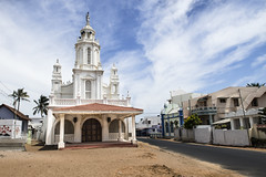 St. Ignatius Church, Kovalam Kanyakumari Tamilnadu India (Anoop Negi) Tags: st ignatius church tamilandu kovalam kanyakumari india beach coast road religion christian blue sky clouds photo photography anoop negi ezee123 christianity hinduism caste system travel