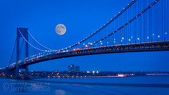 Moon over the Verrazno Bridge (Jerry Fornarotto) Tags: architecture bay bayridge beautiful blue bridge brooklyn city cityscape connection cr2017 doubledecked engineering evening expressway fullmoon highway hudsonriver illuminated infrastructure jerryfornarotto landscape lights longexposure moon newyork newyorkcity night ny nyc reflection river skyline statenisland steel straights suspension suspensionbridge traffic transportation travel urban verrazano verrazanobridge verrazanonarrows verrazanonarrowsbridge water