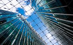 Novadosed (DobingDesign) Tags: nova architecture london londonarchitecture sky glass cladding landsecurities lines geometric mesh clouds reflections bluesky diagonal angle lookingup pattern stripes
