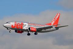 """Newcastle"" Jet2 G-CELA Boeing 737-377QC cn/23663-1323 @ LEBL / BCN 07-11-2016 (Nabil Molinari Photography) Tags: newcastle jet2 gcela boeing 737377qc cn236631323 lebl bcn 07112016"