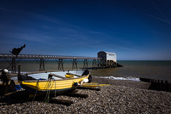 Selsea beach and the old lifeboat station [Explored] (pauldgooch) Tags: england pier westsussex canon sea lifeboat beach fishing 600d uk selsea coastal rnli seascape boat eos coast 2017 seaside selsey unitedkingdom gb