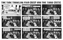 Time Traveling Film Creep and Timid Critic - Kong B 60413 (Brechtbug) Tags: the barnacle twin presents time traveling film creep timid critic king kong skull island a brecht newspaper cartoon without paper comic comics theater theaters theatre movie movies films new york city brechtbug gadfly nyc 2017 comix ape gorilla gorillas cartoons beware cinema creeps segue segway timemachine machine