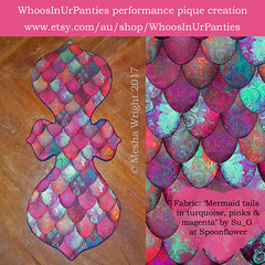 WhoosInUrPanties' reusable cloth pads in 'Mermaid tails in turquoise, pinks & magenta by Su_G' (Su_G) Tags: sug 2017 whoosinurpanties meshawright mermaidtailsbysug mermaidtailsinturquoisepinksmagentabysug turquoisepinksmagenta pinks turquoise magenta multicolored multicoloured dragonscales dragonscale dragonskin scallop scallops brocade performancepiqué reusable clothpads menstrual ditchthedisposables maketheswitch menstrualwear recycle recyclable reusablemenstrualproducts ecofriendly liners mamacloth