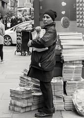 Sorting newspapers (penn.sara) Tags: blackandwhite nikon nikonitalia bnwrose worldbnw peoplescreative photography streetphotography phography bnw bn bnwvision photo street photographer bnwcaptures londra world topworldphoto people