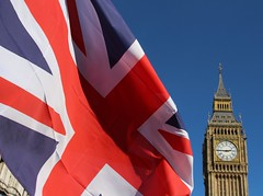 Unity for Europe (richardr) Tags: flag unionjack westminster london parliament housesofparliament bigben unityforeurope protest demonstration europeanunion eu europe clock clocktower england english britain british greatbritain uk unitedkingdom european brexit remain