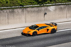 SV LP750-4 (Nico K. Photography) Tags: lamborghini aventador lp7504 superveloce orange supercars nicokphotography highway germany böblingen