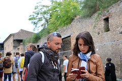 The Little Red Book (Rick & Bart) Tags: italy italia campania naples pompeii historic unescoworldheritage roman rickvink rickbart canon eos70d ruins everydaypeople people strangers streetphotography candid