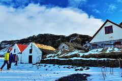 Icelandic Turf Houses (Albert Jafar) Tags: icelandicturfhouse icelandssouthcoast houses outdoor winterscenery snow bluesky photographerswharf ngc worldtrekker iceland skogar