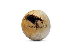 Scorched (Bill Hornstein) Tags: maxfligolf maxfli ball burned charred fire golf golfball hot melt scorched