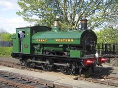 IMG_4778 - GWR Hudswell Clarke Saddle Tank 813 (SVREnthusiast) Tags: didcotrailwaycentre didcot railway centre gwrhudswellclarkesaddletank813 gwr hudswellclarke saddletank 813